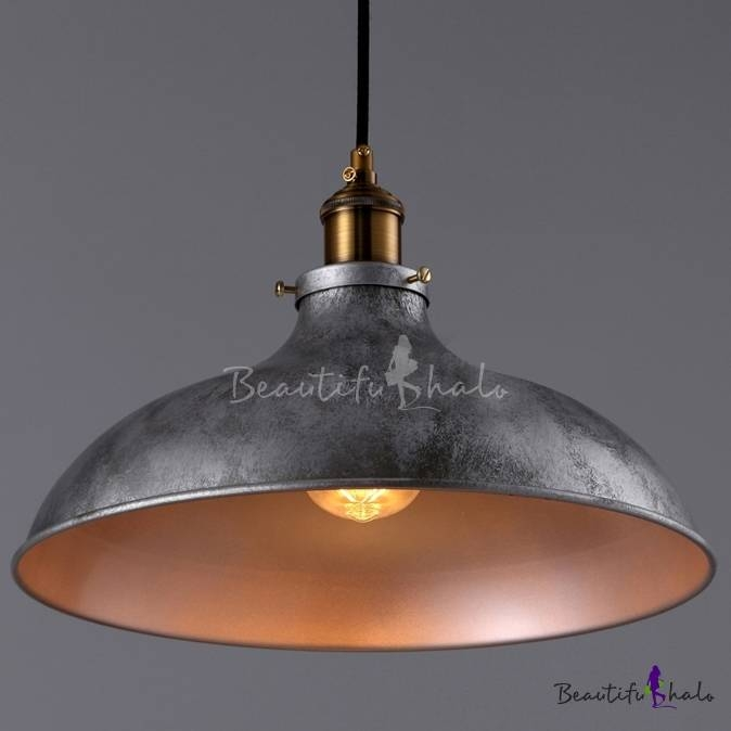 Inspiration about Gun Metal Grey 1 Light Pendant Light – Beautifulhalo Throughout 2017 Industrial Style Pendant Lights (#3 of 15)