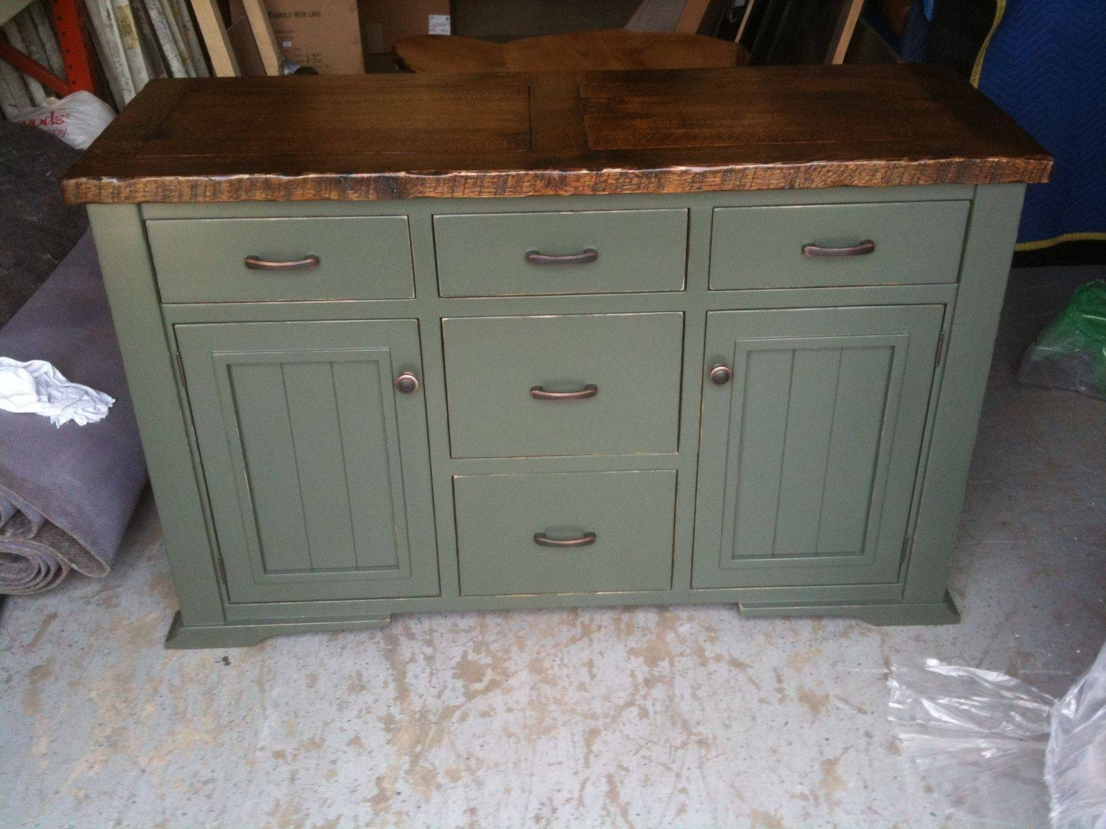 Hand Crafted Distressed, Painted Sideboardjeremy Belanger Throughout Distressed Sideboards (View 5 of 15)