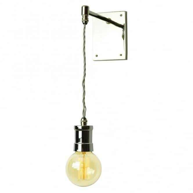 Hanging Polish Nickel Pendant Light Mounted Or Fixed To A Wall (#4 of 15)