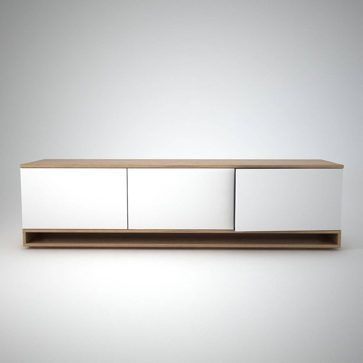 Harlem Low Sideboard (3) White – Join Furniture In White Contemporary Sideboards (#6 of 15)