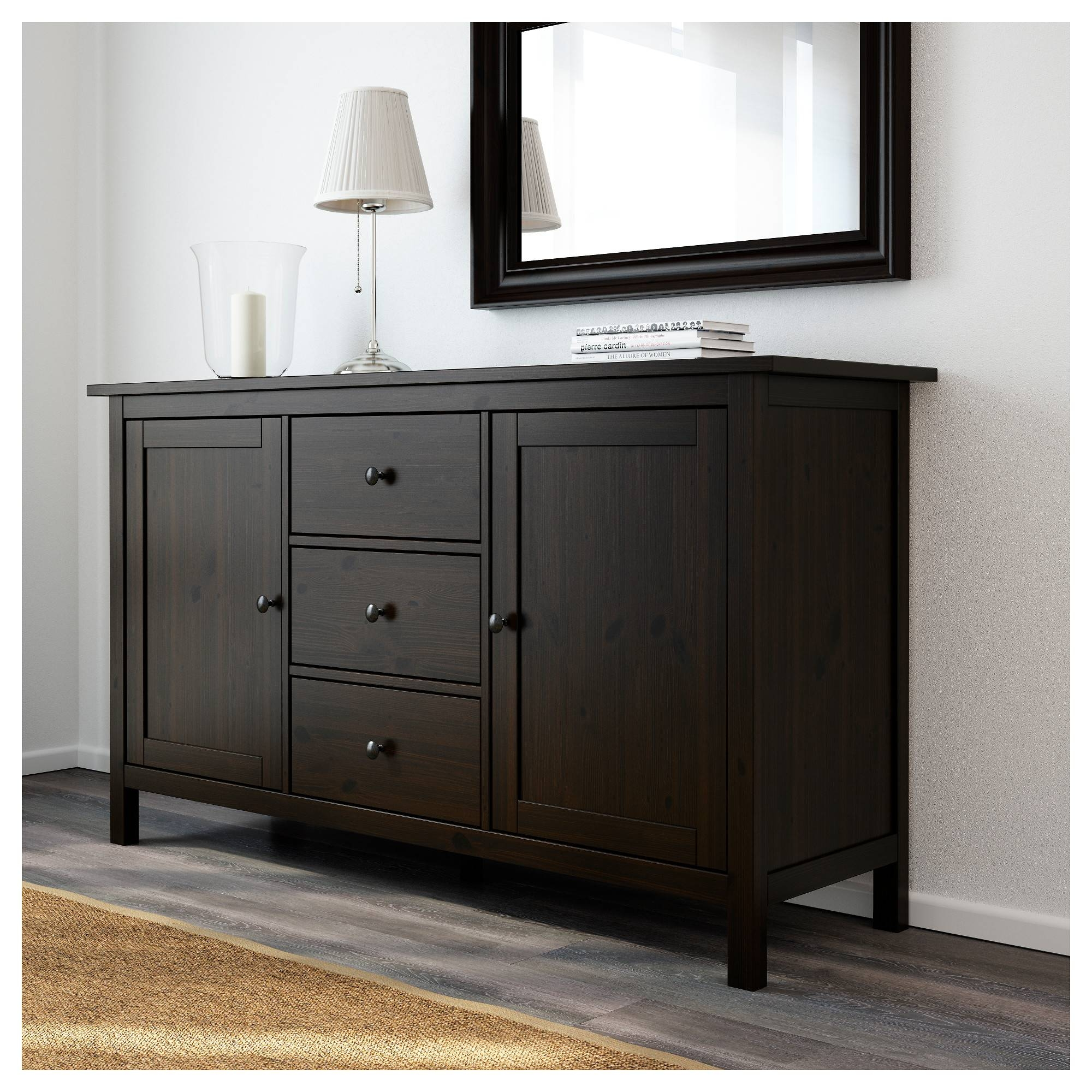 Hemnes Sideboard – Black Brown – Ikea With Regard To Black And Walnut Sideboards (#9 of 15)