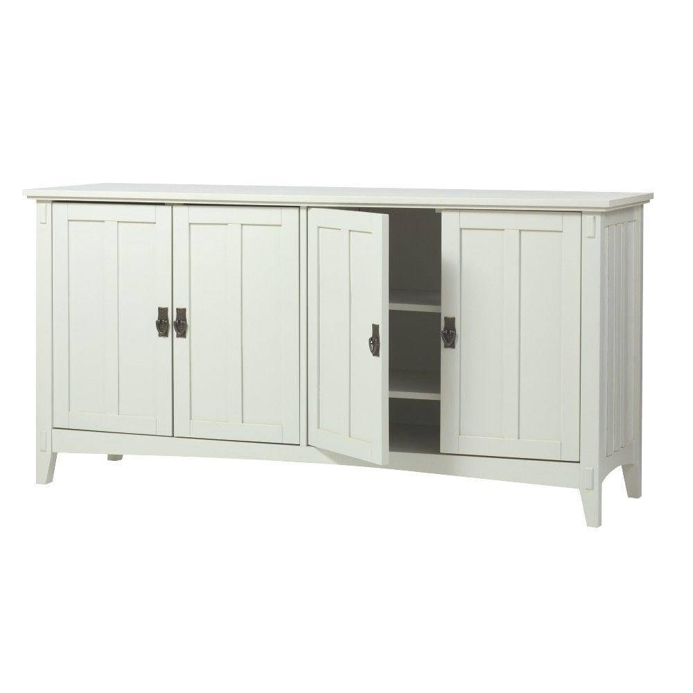 Home Decorators Collection Artisan White Buffet 9224900410 – The Inside White Sideboard Furniture (View 12 of 15)