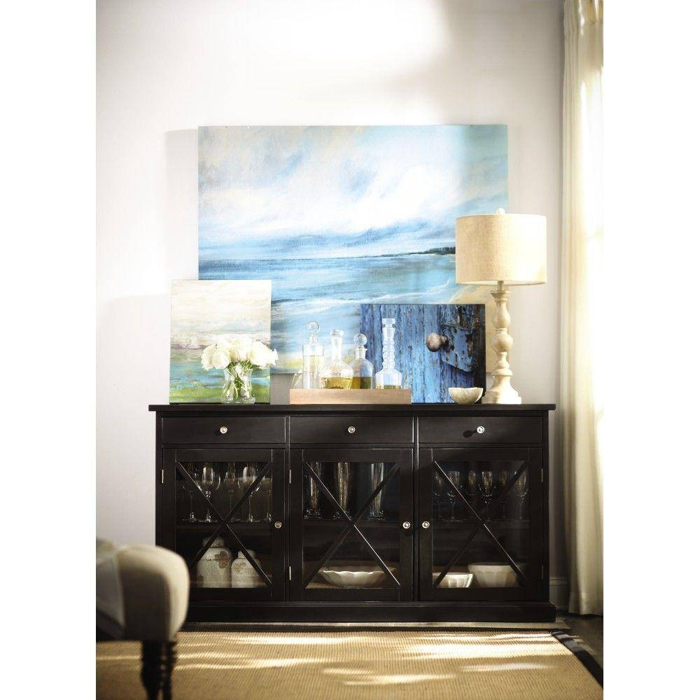 Home Decorators Collection Hampton Black Buffet 1926000950 – The With Regard To Black Gloss Buffet Sideboards (#8 of 15)