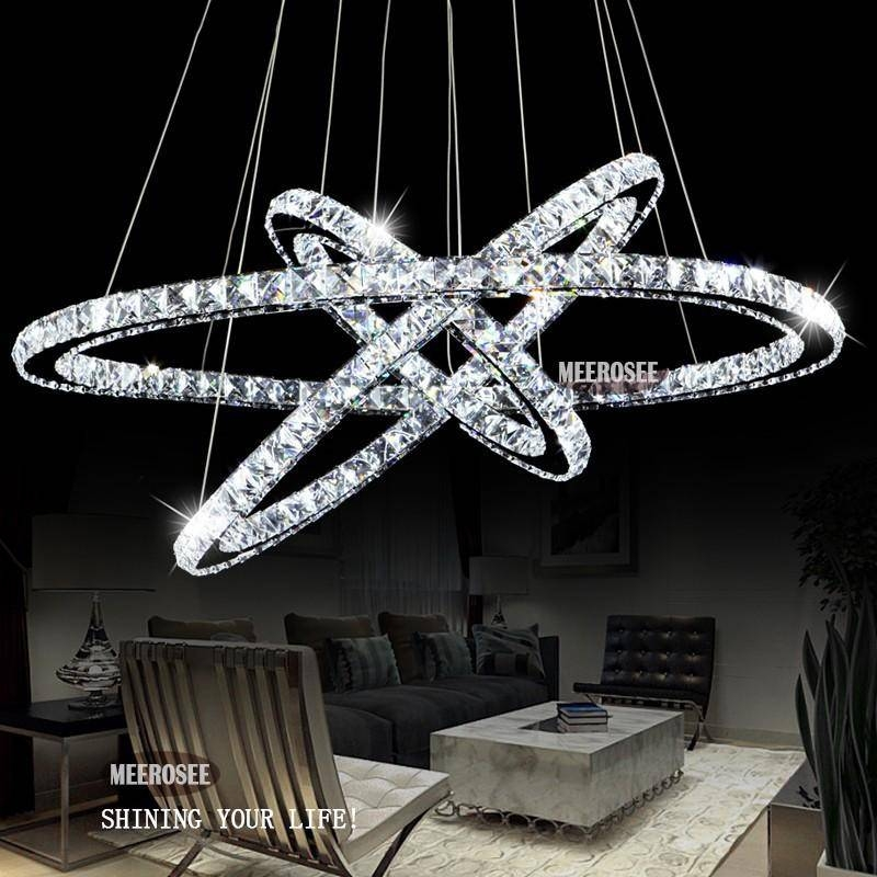 Hot Selling 3 Diamond Ring Crystal Light Fixture, Led Pendant Intended For Current Crystal Led Pendant Lights (View 6 of 15)