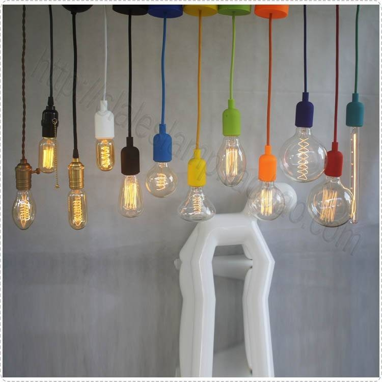 Hot Selling!! Vintage Decoration Bulb E27 Tungsten Wire Silk Light In Most Up To Date E27 Pendant Lamps (View 7 of 15)