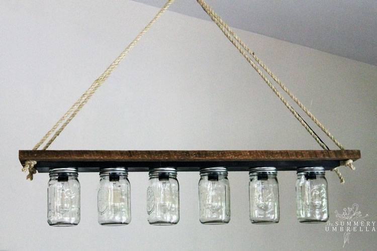 How To Make A Mason Jar Pendant Light | The Summery Umbrella Intended For Mason Jar Pendant Lights (#7 of 15)