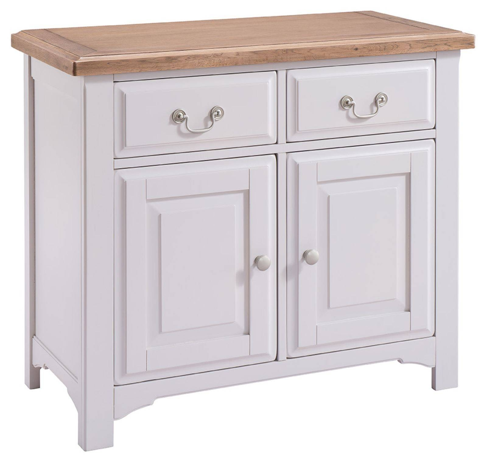 Hutch® – Buxton Light Grey Painted Small Sideboard Throughout Grey Painted Sideboards (#6 of 15)