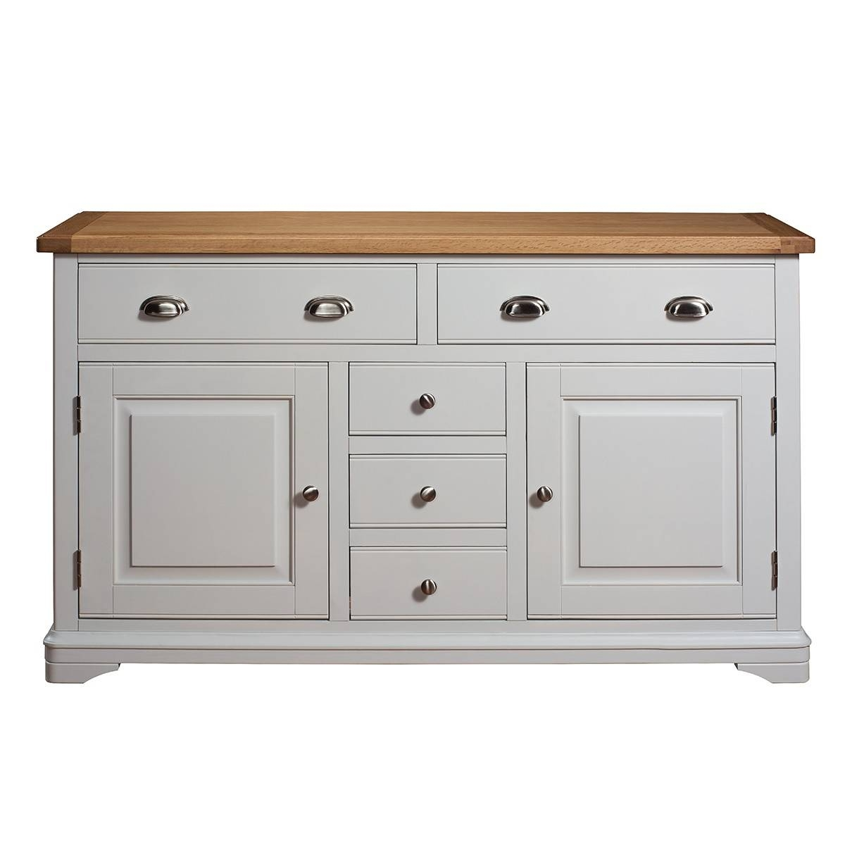Hutch® – Harbury Light Grey Painted Large Sideboard For Grey Sideboards (#3 of 15)