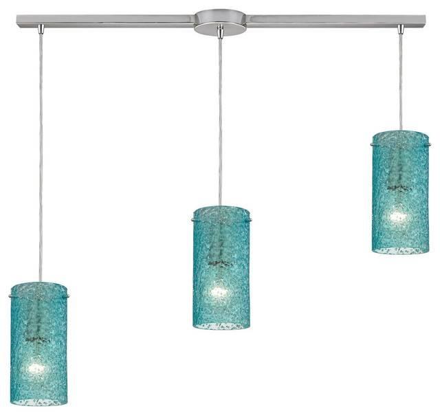 Ice Fragments 3 Light Pendant – Contemporary – Pendant Lighting In Aqua Pendant Light Fixtures (View 5 of 15)