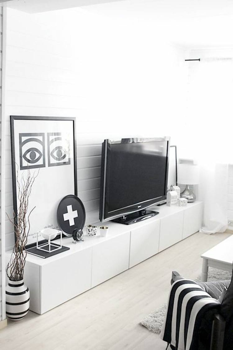 Ikea Besta Units In The Interior Creative Integration   Hum Ideas With Sideboards For Tv (#9 of 15)
