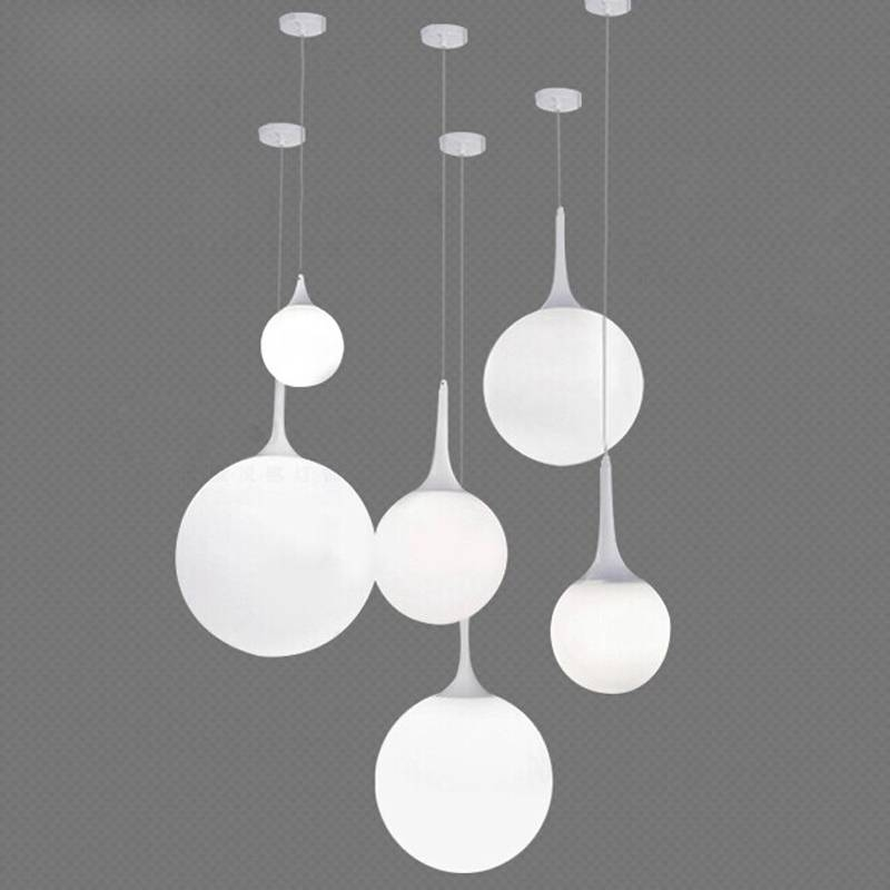 Incredible White Hanging Lights Modern Pendant Lighting Hanging In Most Popular White Modern Pendant Lights (#8 of 15)