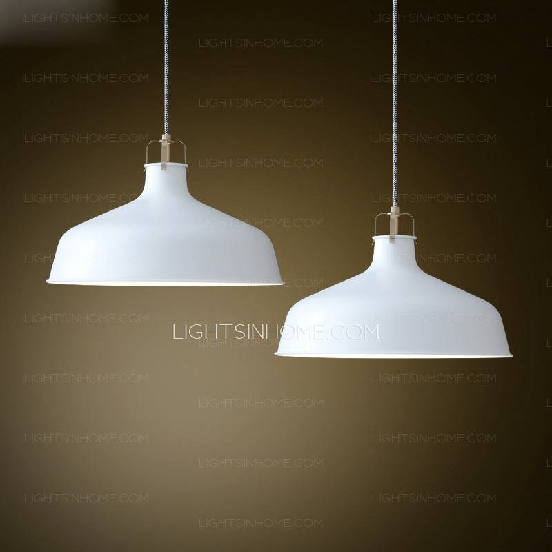 Incredible White Pendant Light Fixture Aluminum Shade White With 2018 Modern White Pendant Lights (View 5 of 15)