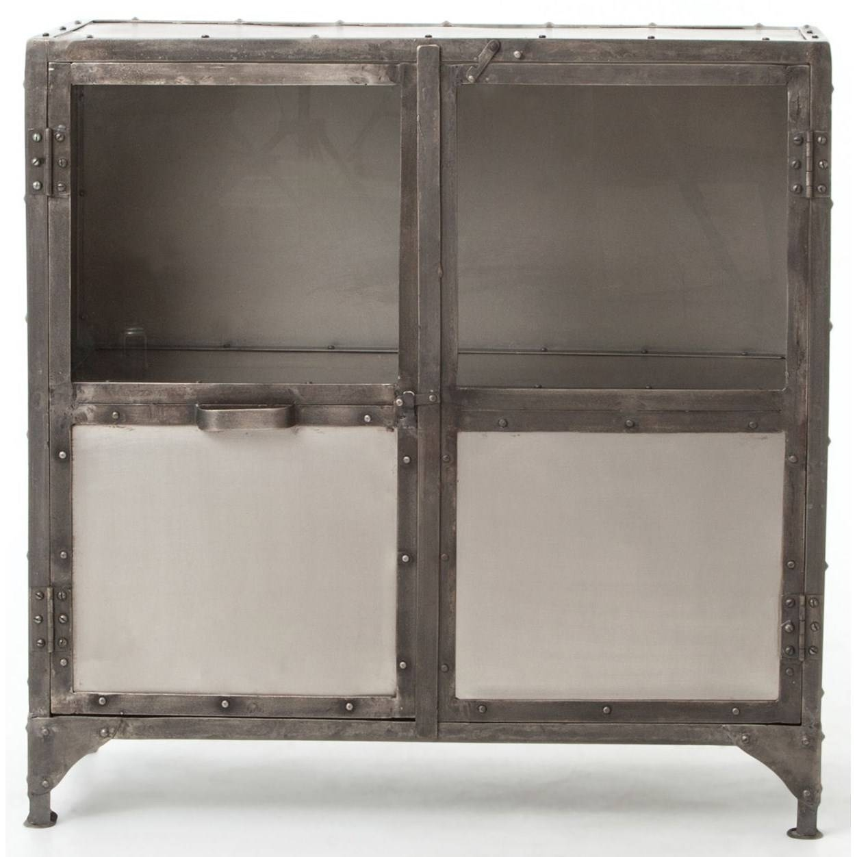 Industrial Metal Sideboard With Glass Doorsfour Hands | Wolf With Regard To Four Hands Sideboards (#4 of 15)