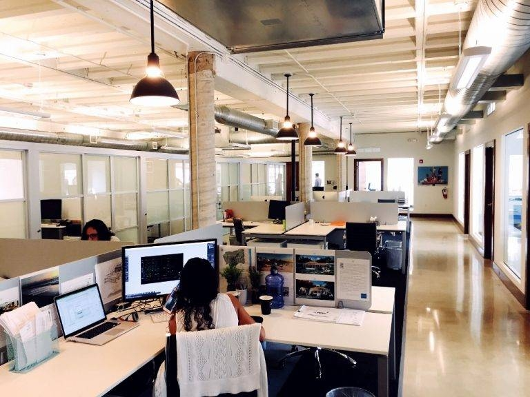 Industrial Pendants Lend Chic Touch To Miami Office Space | Blog Within Latest Pendant Office Lighting (#7 of 15)