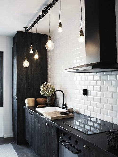 Industrial Pendants Offer Varied Looks With Bulb, Cord Options In Industrial Bare Bulb Pendant Lights (#12 of 15)