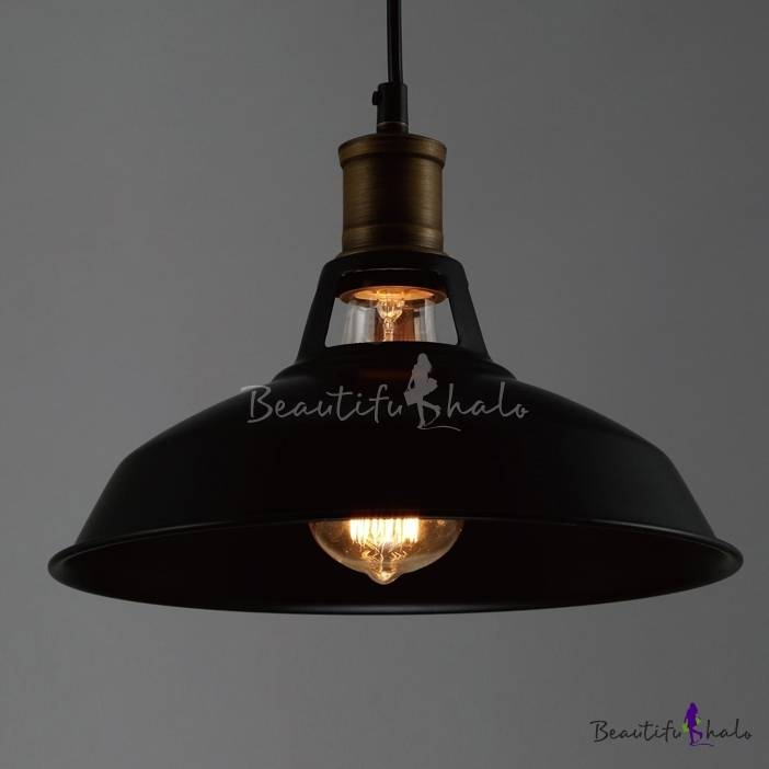 Industrial Retro Black Pendant Light – Beautifulhalo Throughout 2017 Industrial Style Pendant Lights (View 6 of 15)