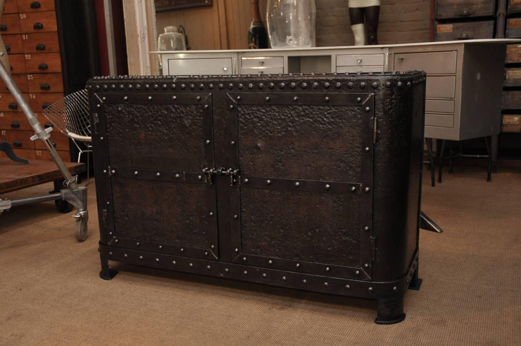 Industrial Sideboard Tables : Vintage Industrial Sideboard With Metal Sideboard Furniture (View 2 of 15)