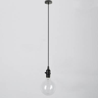 Industrial Style Black Bare Bulb Mini Pendant Light Intended For Industrial Bare Bulb Pendant Lights (#13 of 15)