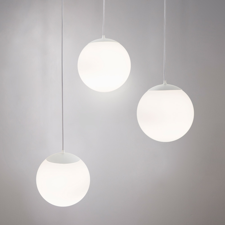 Innermost Drop Pendant Light White Frosted Glass | Pendant Lights Regarding Recent Drop Pendant Lights (#12 of 15)