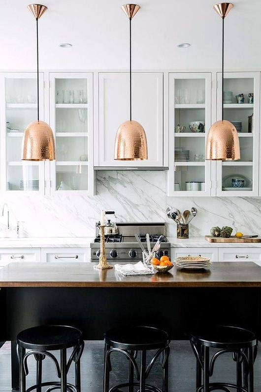 Innovative Hanging Kitchen Lights 17 Best Ideas About Copper Within Most Recent Kitchen Pendant Lights (#8 of 15)