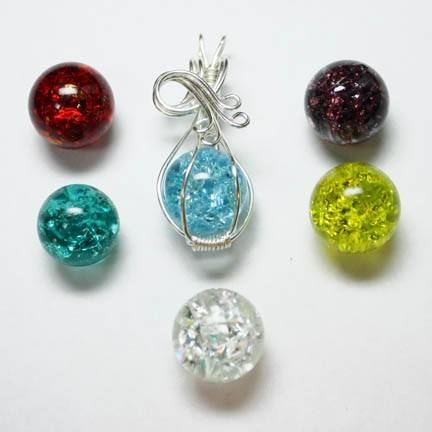 Interchangeable Wire Wrap Fried Fractured Marble Pendant With Inside Newest Marble Pendants (#11 of 15)
