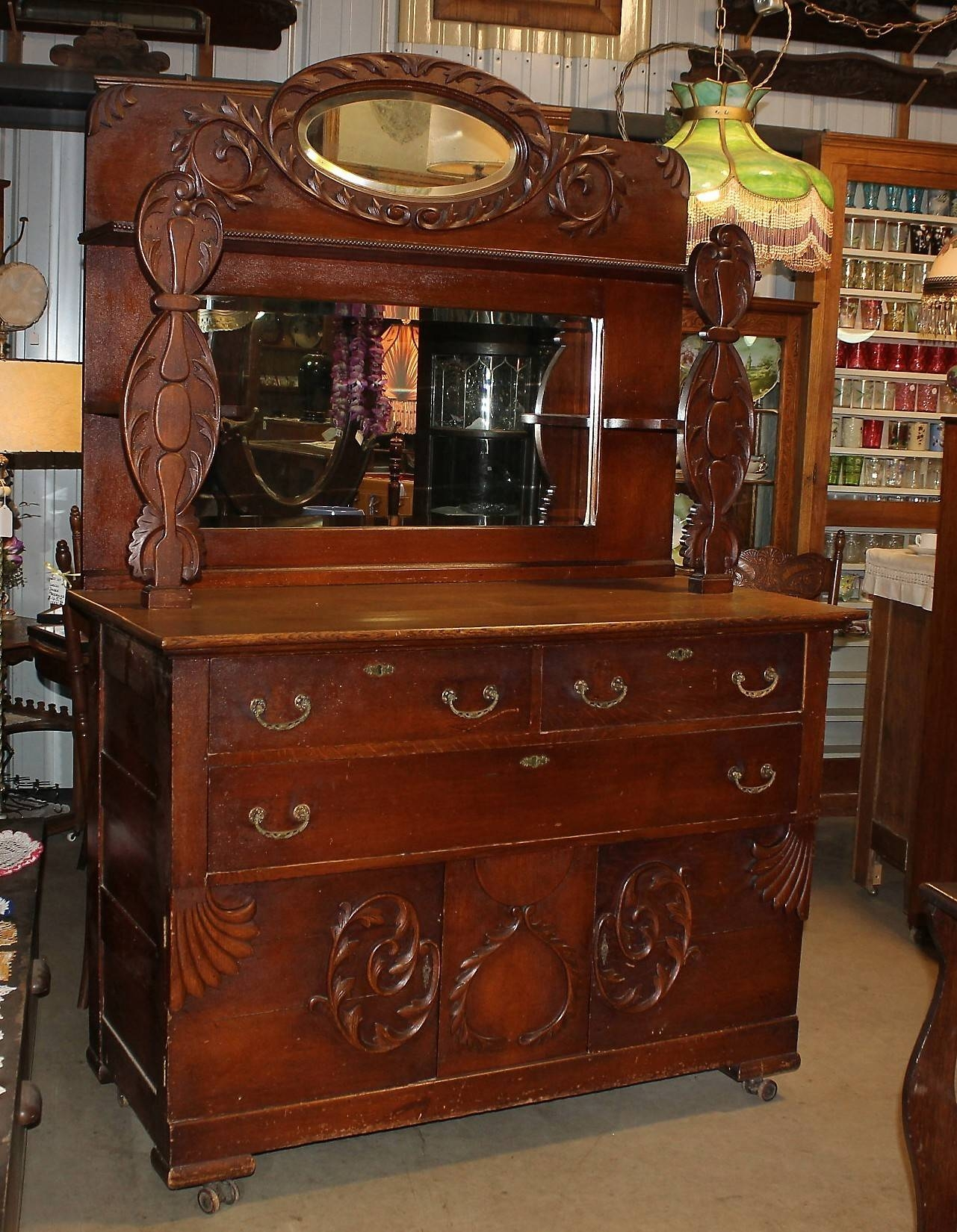 Jeanne's Antiques Crofton Nebraska With Regard To Sideboards With Mirror (View 6 of 15)