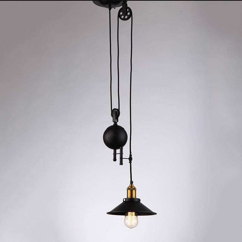Jemmy Ho Vintage Industrial Pulley Pendant Light Warm Loft In Adjustable Pulley Pendant Lights (View 12 of 16)