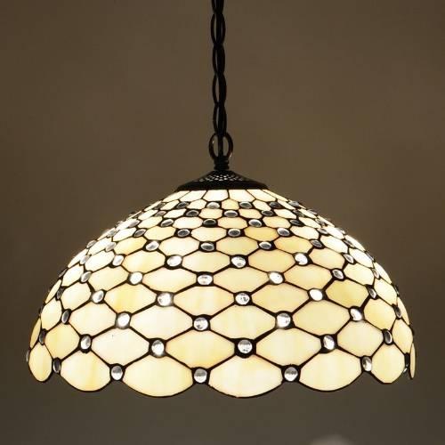 Jewel 16inch Tiffany Pendant Light Inside Latest Tiffany Pendant Lights (View 6 of 15)