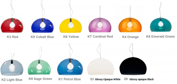 Kartell Fly Suspension – Colours For Recent Kartell Fly Pendants (#9 of 15)