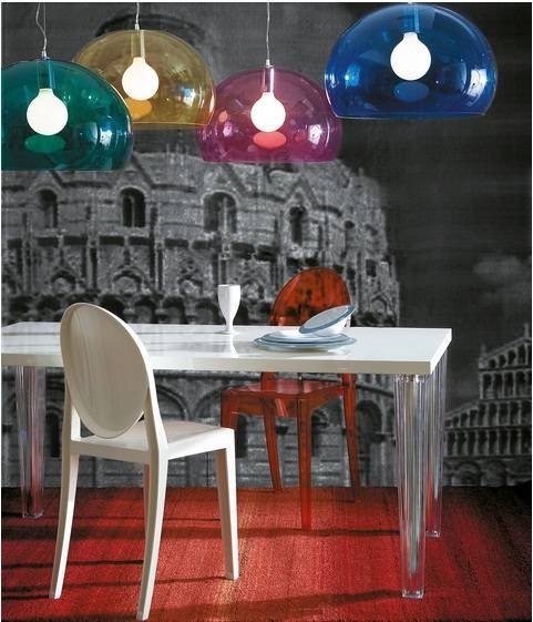 Kartell Lamps Fl Y Pendant Lamp : Surrounding For Best And Newest Kartell Fly Pendants (#10 of 15)