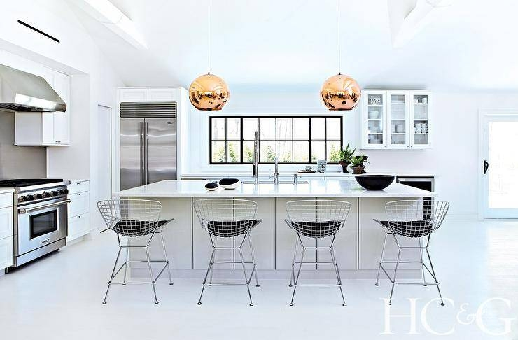 Inspiration about Kitchen Island With Tom Dixon Copper Shade Pendants – Modern – Kitchen Regarding Most Recently Released Tom Dixon Copper Shade Pendants (#10 of 15)