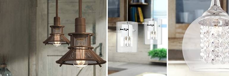 Kitchen Lighting – Designer Kitchen Light Fixtures   Lamps Plus Regarding Lamps Plus Pendants (View 14 of 15)