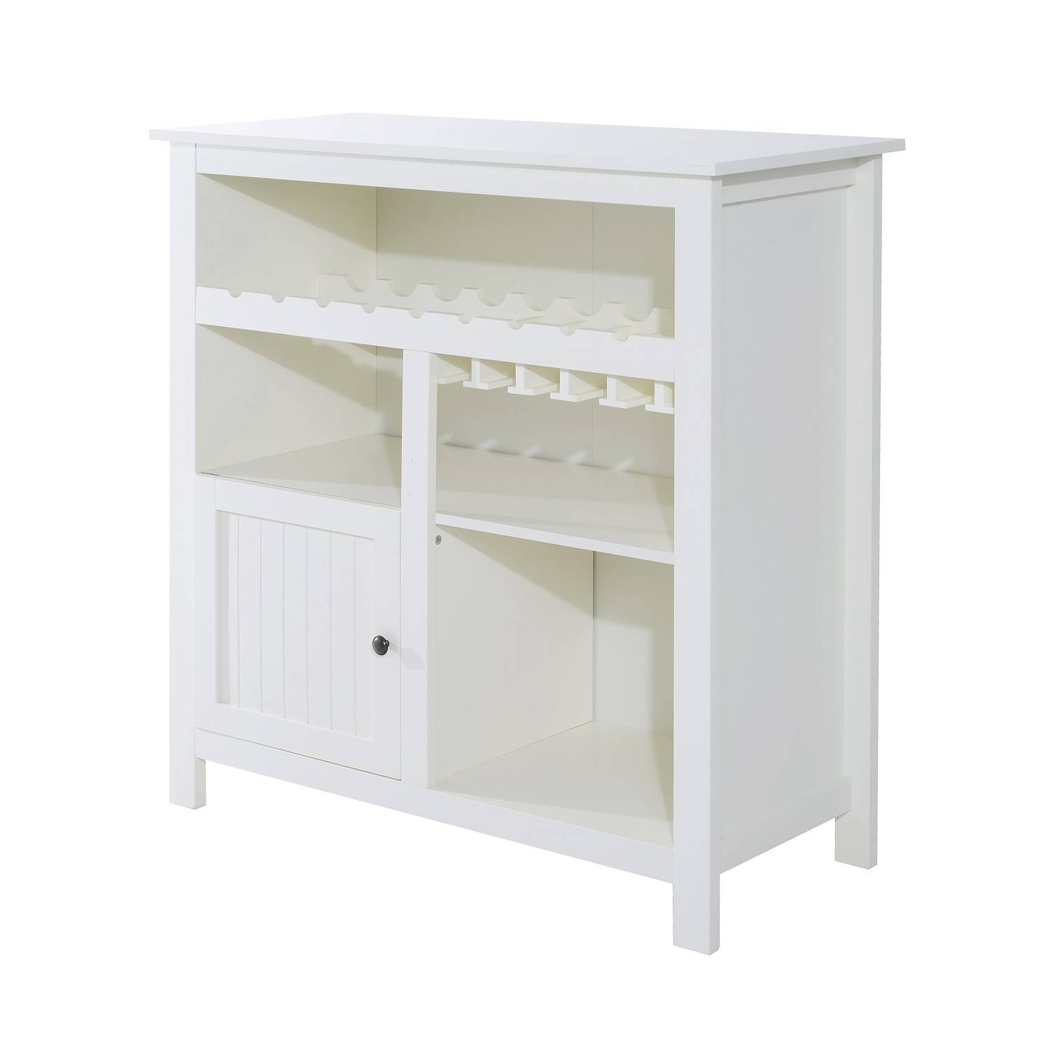 Kitchen : White Buffet Furniture Wine Buffet Table Rustic Inside Narrow White Sideboards (#8 of 15)