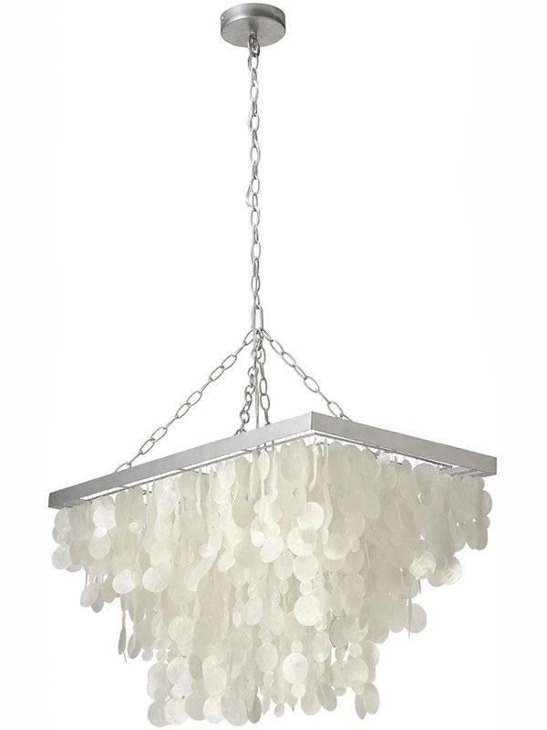 Kouboo 3 Light Rain Drop Capiz Pendant Lamp & Reviews | Wayfair Within 2018 Drop Pendant Lights (#14 of 15)