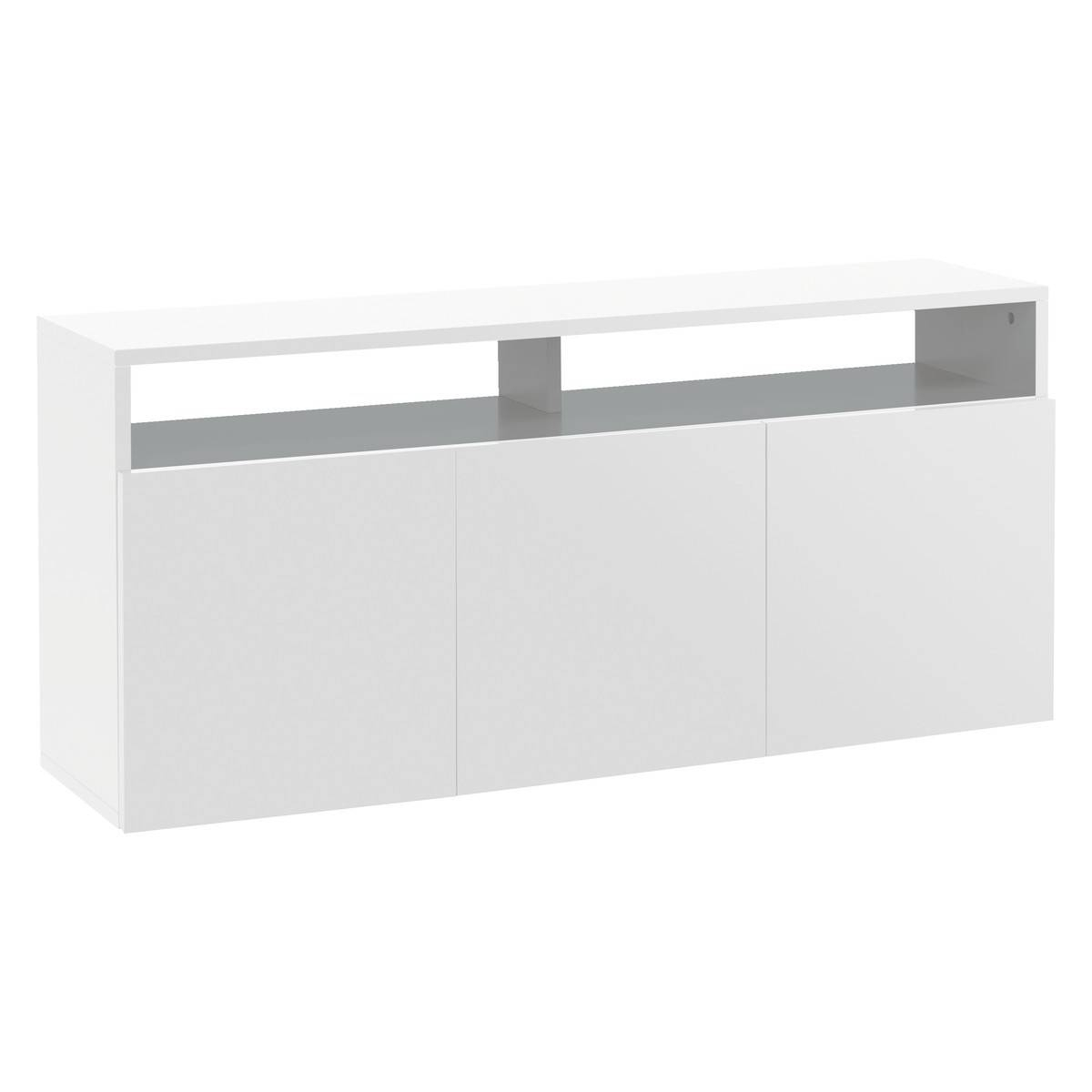 Kubrik White High Gloss Large Sideboard | Buy Now At Habitat Uk Within Cheap White Sideboards (View 14 of 15)