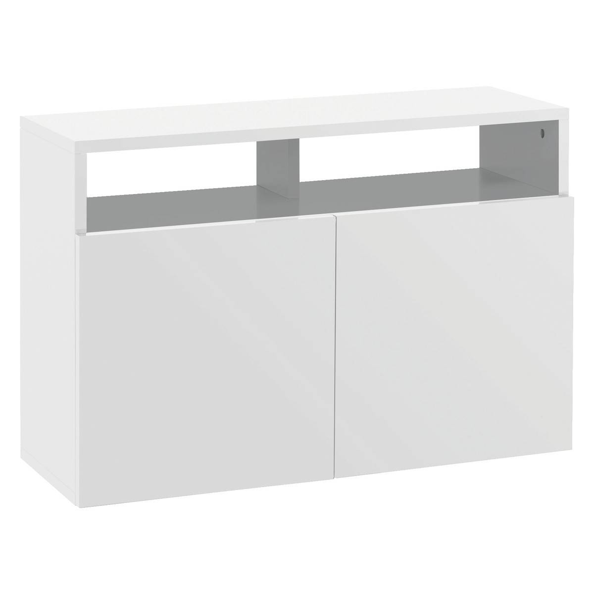 Kubrik White High Gloss Small Sideboard | Buy Now At Habitat Uk Within Gloss White Sideboards (View 4 of 15)