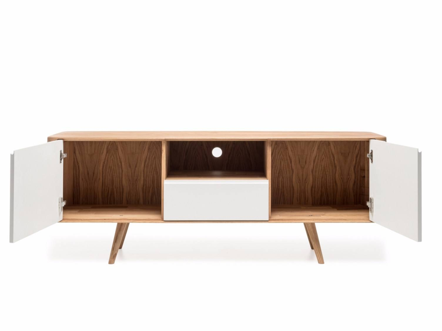 Lacquered Sideboard With Doors Ena Tv Sideboard Two Ena Collection With Regard To Sideboards For Tv (#12 of 15)