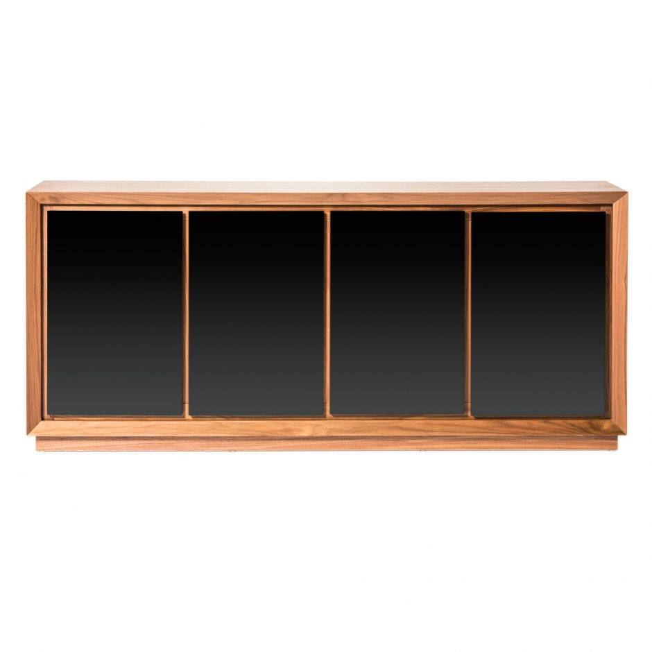 Lagarno Sideboard Walnut W/glass Top | Products | Moe's Wholesale For Glass Top Sideboards (#5 of 15)