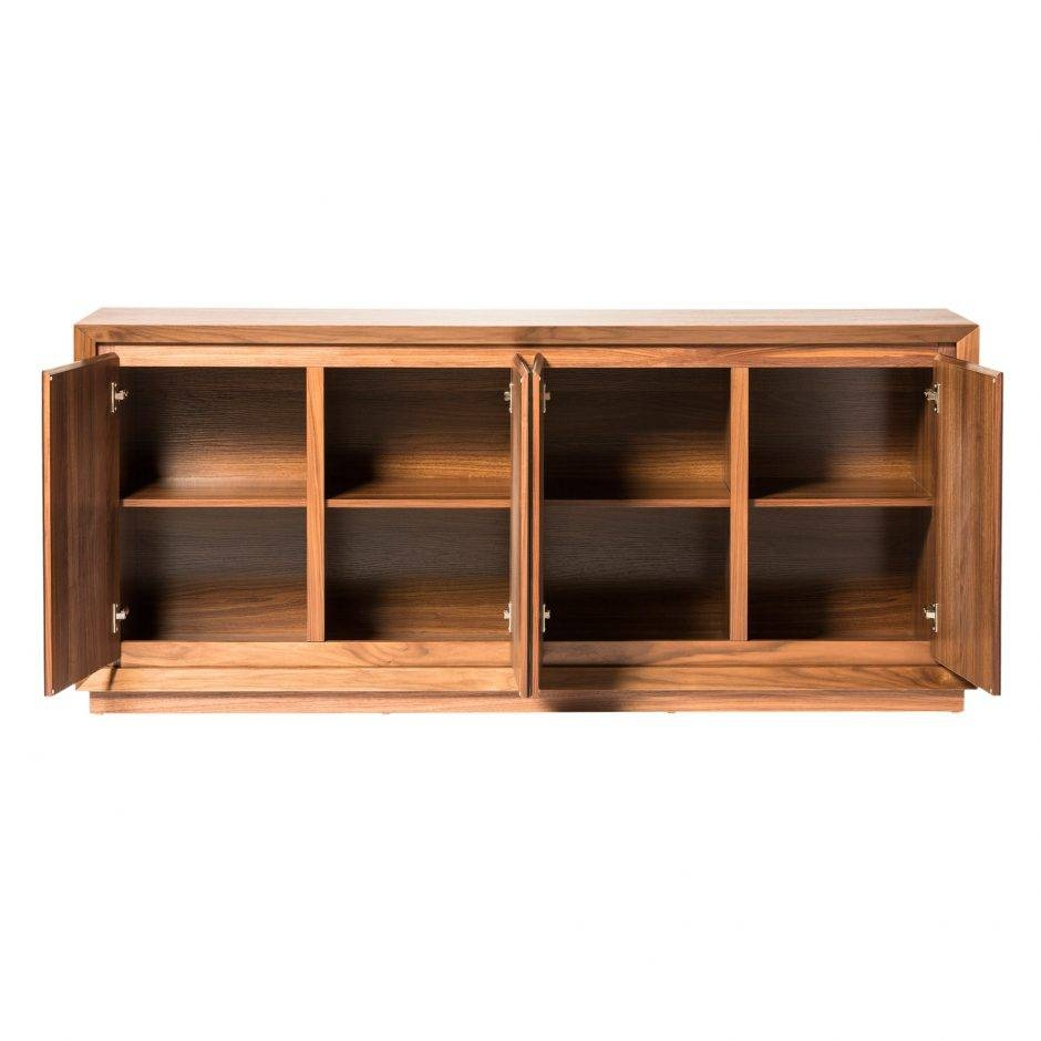 Lagarno Sideboard Walnut W/glass Top | Products | Moe's Wholesale Regarding Glass Top Sideboards (#6 of 15)