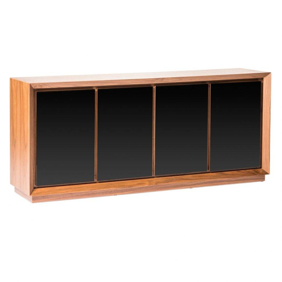 Lagarno Sideboard Walnut W/glass Top | Products | Moe's Wholesale With Regard To Glass Top Sideboards (#7 of 15)