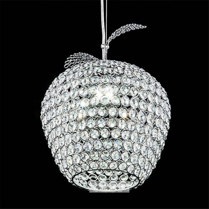 Lampada De Led K9 Crystal Pendant Lights Hanging Light Crystal In Most Recent Apple Pendant Lights (View 3 of 15)