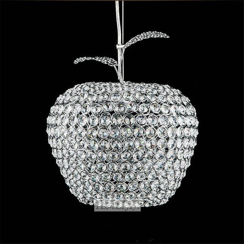 Lampada De Led K9 Crystal Pendant Lights Hanging Light Crystal Inside 2018 Apple Pendant Lights (View 7 of 15)
