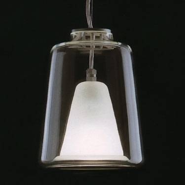 Lanterna Large Oluce Italian Glass Pendant Lamp: Nova68 Inside Newest Italian Pendant Lighting (View 12 of 15)
