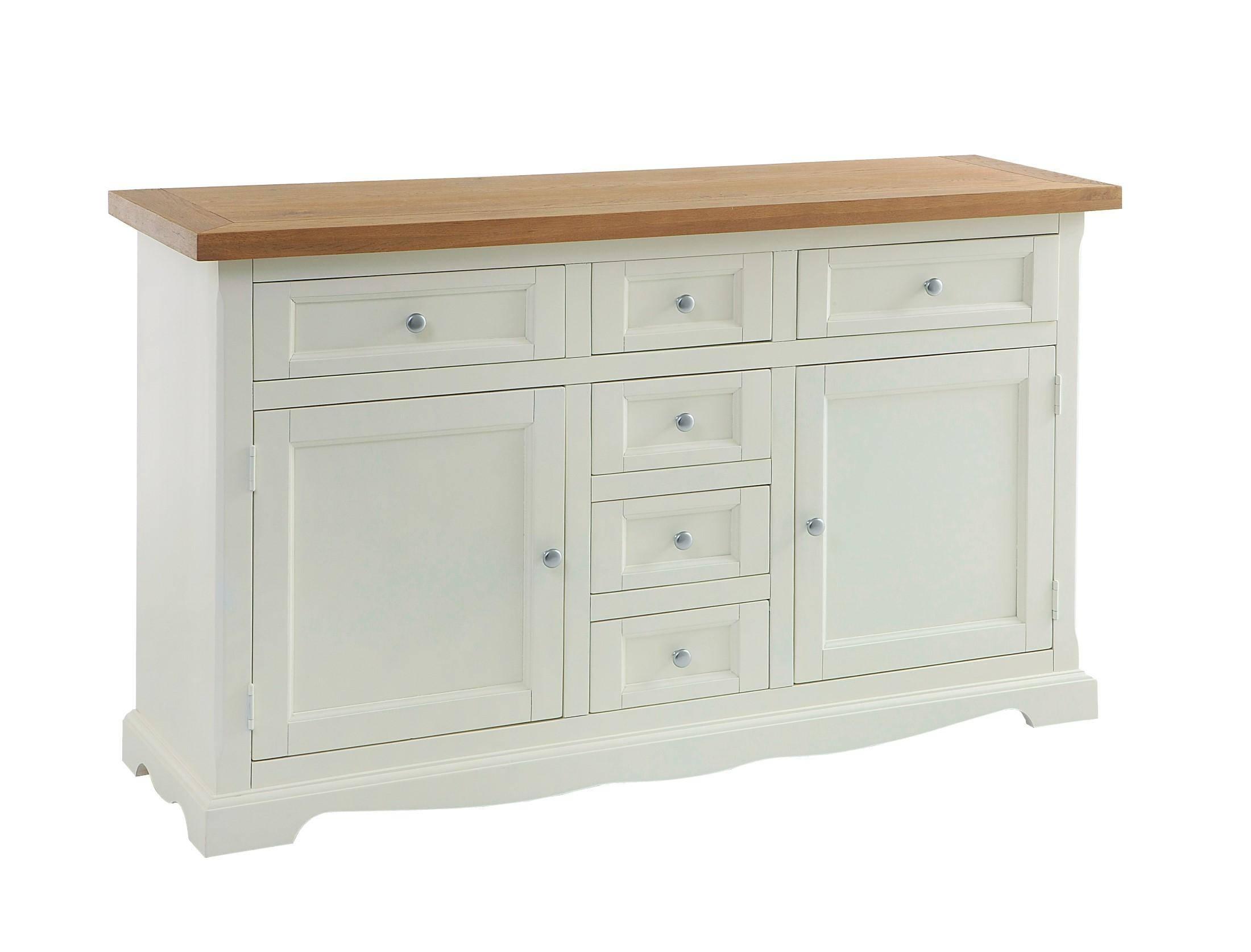 Large Irish Sideboard Cream – Flowerhill Furniture Regarding Cream Sideboards (#7 of 15)