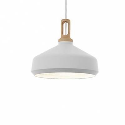 Large Pendant Lighting With Wood Holder, Aluminum Modern And Chic Throughout Current Large White Pendant Lights (#11 of 15)