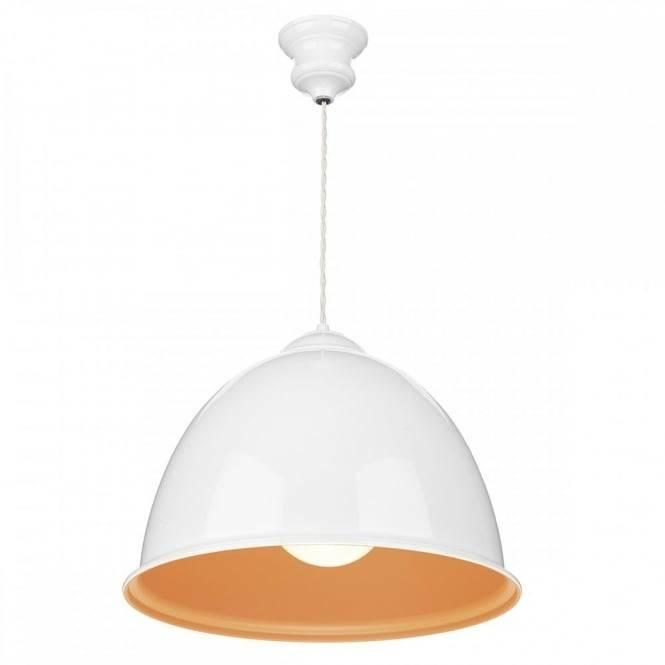 Large White Orange Pendant Light Fitting (#12 of 15)