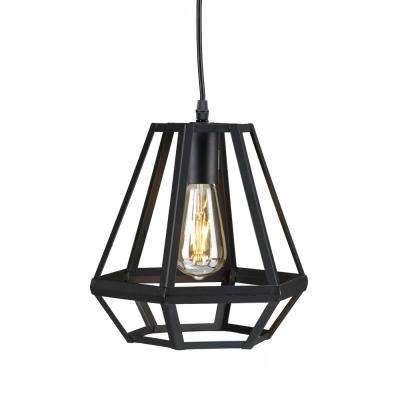 Led – Cage – Pendant Lights – Hanging Lights – The Home Depot Pertaining To Best And Newest Black Pendant Lights (#11 of 15)