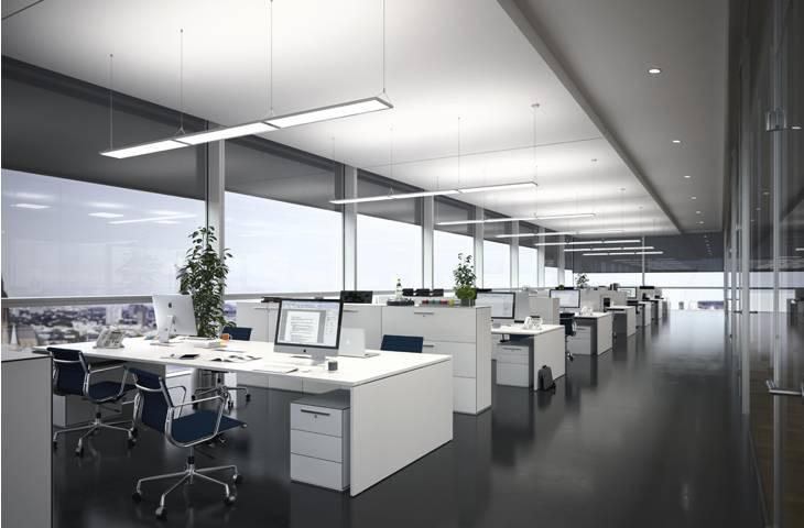 Led Open Office Lighting, Open Office Floorstand Lamp For Best And Newest Pendant Office Lighting (#8 of 15)