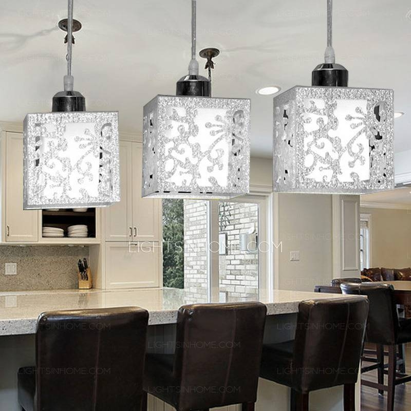 Light Rectangular Type Glass Shade Stainless Steel Pendant Lights Inside Stainless Steel Pendant Light Fixtures (View 7 of 15)