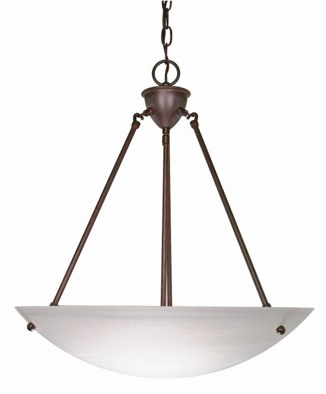 inverted bowl pendant lighting. Lighting 60/371 3 Light 23 Inch Pendant Alabaster Glass Bowl For Most Recently Released Inverted R